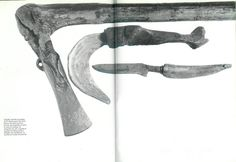 Late bronze age axe, falx and knife from Swiss lake