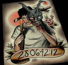 Donnie Darko Tattoo Flash by ParlorTattooPrints on Etsy