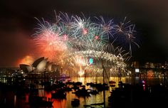 New Year's Eve Fireworks on Sydney Harbour - AAP Image/Nikki Short