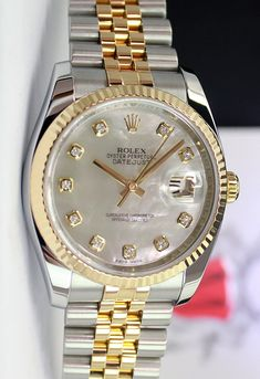 #Rolex Datejust 116233 with the mother of pearl diamond dial, fluted bezel, jubilee bracelet