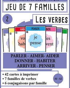 mondolinguo-7familles-verbes2 Core French, French Class, French Lessons, French Verbs, French Grammar, French Teacher, Teaching French, How To Speak French, Learn French