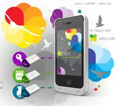 BiKN - iPhone Smart Case & Tags - Enables users to track and find all of their important things – phone, keys, purse, etc.