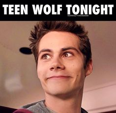 Teen Wolf... pretty much my face... TW makes Monday so much more fun