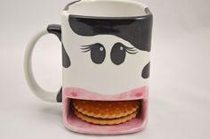 Cookie Tasse Kuh aus Keramik von Dreamceramics auf Etsy, €17.00