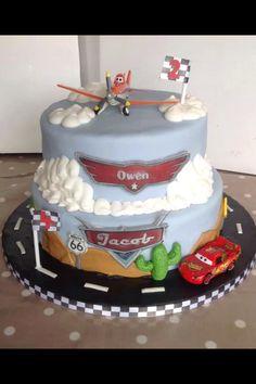Disney planes cars cake