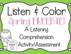 Try out Listen and Color in your classroom for FREE! Students LOVE this interactive listening skills activity and they will be asking for more!