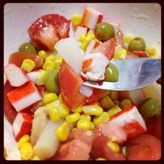 Ensalada de colores y bocas de mar - La dieta ALEA - blog de nutrición y dietética, trucos para adelgazar, recetas para adelgazar