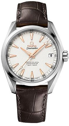 Omega Aqua Terra 150m Master CoAxial Silver Dial Mens Watch 23113392102003 >>> You can get additional details at the image link.