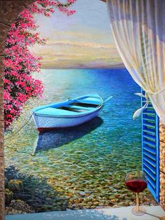 """I Lean Out Of The Window And The  Breeze Brings To Me . .""""The Poem Of The Mediterranean Sea """" ~ Miki Karni"""