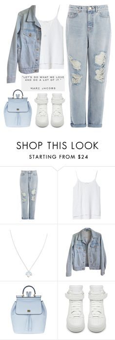 """""""Let's do what we love and do a lot of it"""" by theapapa ❤ liked on Polyvore featuring Warehouse, Zara, Wolf & Moon, American Apparel, Dolce&Gabbana and Givenchy"""