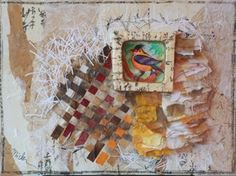 "Michi Susan     Birdsong 209-11 , 2011  Mixed Media on Canvas  18"" x 24"""