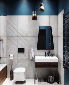 Choosing Townhouse in Modern Style Bathroom by Design Studio by Mariya Rubleva Is Simple - homemisuwur Washroom Design, Toilet Design, Bathroom Design Luxury, Modern Bathroom Design, Home Interior Design, Scandinavian Bathroom Design Ideas, Luxury Interior, Muebles Home, Bathroom Styling