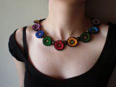 Gypsy ... Freeform Crochet Necklace by irregularexpressions