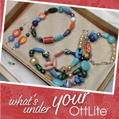 Look at the incredible jewelry that Penny creates under her OttLite! What are you creating today? or tag us for a chance to be featured! Light Crafts, Desk Light, The Incredibles, Create, Inspiration, Jewelry, Biblical Inspiration, Jewellery Making, Office Lighting