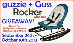 Guzzie + Guzz Rocker Giveaway - ends 10/10 | Everything Mommyhood
