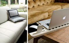 Cojines, bandejas, mesitas y otras ideas para colocar el portatil  |  DECOFILIA.com