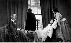 FADING AWAY c.1858- post mortem photograph by Henry Peach Robinson, famous photographer of the Victorian period