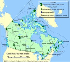 Experience the unspoiled beauty of Canada by visiting its national parks.: National Parks of Canada Canada National Parks, National Parks Map, Places To Travel, Places To Go, Discover Canada, Nature Sauvage, Visit Canada, Camping List, Vacation Trips