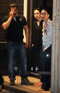 Kareena Kapoor and Karisma Kapoor at Salman Khan's Bandra residence. #Bollywood #SalmanVerdict