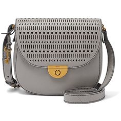 Fossil Emi Saddle Bag ($148) ❤ liked on Polyvore featuring bags, handbags, shoulder bags, cross-body handbag, crossbody shoulder bags, crossbody purses, saddle bags and leather shoulder bag