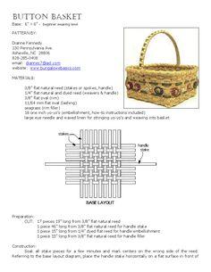 Button Basket - beginner level pattern