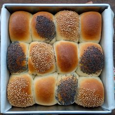 Checkerboard Tangzhong Rolls - Edible pillows of soft dough.