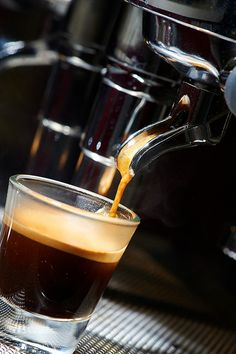 Espresso freshly made...