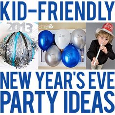 Whether your kids are old enough to stay up until midnight or so little that you celebrate early in the evening, here's a round-up of fantastic kid-friendly New Year's Eve party ideas that everyone will enjoy! FOOD & DRINKS Set up a hot cocoa bar, cupcake ...
