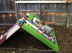 Adjustable Toddler Bouldering Wall -- A Tutorial. Helloooo winter indoor fun.