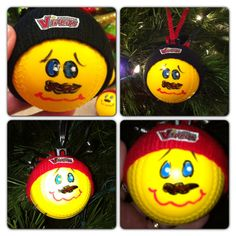 Softball Ornaments These are so cute and easy to do!!!