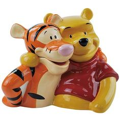 44.99 Welcome to Pooh Corner! It's Winnie the Pooh and Tigger, too. There's a charming conversation starter for your kitchen! Lovingly detailed cookie jar sports a shiny, classy look.