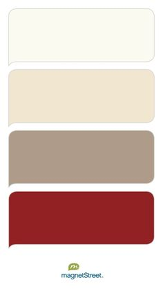 Palette Colors (looking for): Ivory, Champagne/Taupe, Wine Red Rooms Ideas, Bedroom Red, Red Rooms, Living Room Colors, Red Living Room Decor, Bedroom Colours, Kitchen Colors, Red Kitchen Walls, Colour Schemes