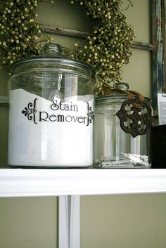 Stain remover (decals from $1.00 store)