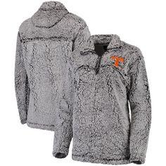Clemson Tigers Women's Gray Sherpa Super Soft Quarter-Zip Pullover Jacket is available now at FansEdge. Tiger Lady, Womens Sherpa, Tennessee Volunteers, Alabama Crimson Tide, Full Zip Hoodie, Gray Jacket, Mens Sweatshirts, Look Cool, Black Hoodie