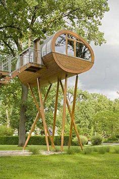 "Stick leg tree house. It's not exactly a ""tree"" house but it's really close and it's really cool! MINE"
