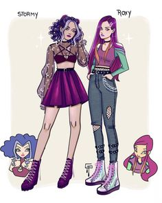 Winx Club Fanart Modern Outfit Trendy Romantic Whimsical Style OOTD Winxoutfit Stormy Roxy Cute Art Styles, Cartoon Art Styles, Cartoon Outfits, Anime Outfits, Winx Club, Camille League Of Legends, Fashion Design Drawings, Modern Outfits, Pretty Art