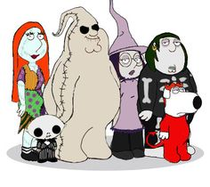 Peter as Oogie Boogie ha ha ha! Although Lois as Sally and Stewie as Jack is a little weird.... Haha how funny!!
