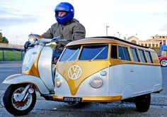 Lambretta Scooter with VW side car