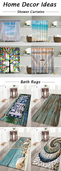 home decor ideas,Bathroom Products:shower curtains and bath rugs & Toilet Covers