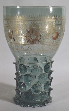 Enamelled glass goblet (roemer), Germany 1608 (in the Metropolitan Museum of Art, NYC, USA)