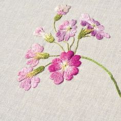 #야생화자수 #설앵초 #앵초 #꿈소 #꿈을짓는바느질공작소 #embroidery #primulamodesta #primrose