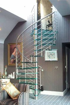 Glass Spiral Staircases   Spiral Staircases and Staircases