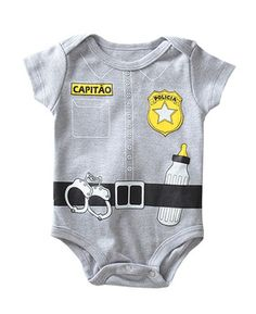 Body Policial www.imnotababy.com.br - Body divertido e Descolado. Atendemos Atacado e Varejo Geek Baby, Baby Boy Clothing Sets, Baby Store, New Kids, Reborn Babies, Baby Accessories, Baby Bodysuit, Kids And Parenting, Boy Outfits