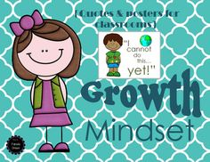 Help instill a growth mindset in your classroom by displaying these bright and colorful quotes on your bulletin boards!