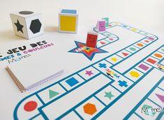 Voici un super jeu de plateau à imprimer pour s'amuser avec les formes et les couleurs ! C'est la course à l'étoile, il faut piocher des cartes, lancé les dés et surtout être le premier à l'arrivée ! Pions, dés, cartes, embûches et raccourcis, Momes a créé pour vous un véritable petit jeu de société qui va plaire aux enfants de 4 à 104 ans !