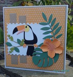 Tropical Vibes, Tropical Paradise, Girl Birthday, Birthday Cards, Marianne Design Cards, Cricut Cards, Some Cards, Diy Cards, Crazy Cats