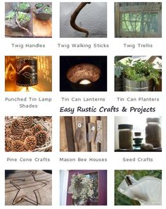 Easy Rustic Projects - looking for something that isn't too challenging?  Here are a few for you...