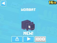 Just unlocked Wombat! #crossyroad