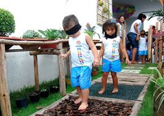 Prepare o ambiente para que as crianças encontrem diferentes texturas com facilidade (foto: Google)
