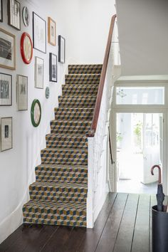 Ben Pentreath Adds More Quirkyness to Alternative Flooring — Heart Home Stairway To Heaven, House Styles, New Homes, Flooring, Ben Pentreath, Alternative Flooring, Carpet Stairs, Vacation Home, English Interior